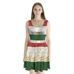 Flag Of Tajikistan Split Back Mini Dress