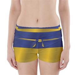 Flag Of Ukraine Boyleg Bikini Wrap Bottoms