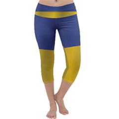 Flag Of Ukraine Capri Yoga Leggings