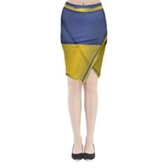 Flag Of Ukraine Midi Wrap Pencil Skirt
