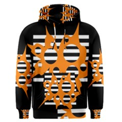 Orange abstract design Men s Pullover Hoodie