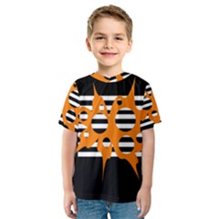 Orange abstract design Kid s Sport Mesh Tee