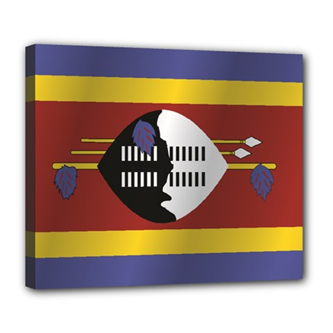 Flag Of Swaziland Deluxe Canvas 24  x 20