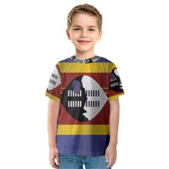 Flag Of Swaziland Kid s Sport Mesh Tee