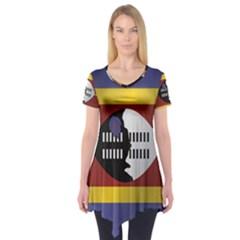 Flag Of Swaziland Short Sleeve Tunic
