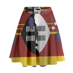 Flag Of Swaziland High Waist Skirt