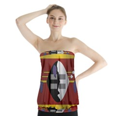 Flag Of Swaziland Strapless Top