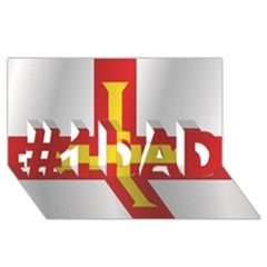 Flag Of Guernsey #1 DAD 3D Greeting Card (8x4)