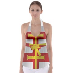 Flag Of Guernsey Babydoll Tankini Top