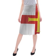 Flag Of Guernsey Midi Beach Skirt