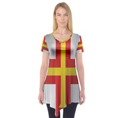 Flag Of Guernsey Short Sleeve Tunic