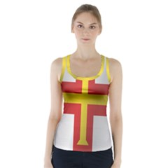 Flag Of Guernsey Racer Back Sports Top
