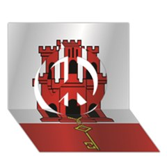 Flag Of Gibraltar Peace Sign 3D Greeting Card (7x5)