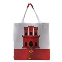 Flag Of Gibraltar Grocery Tote Bag