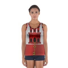 Flag Of Gibraltar Women s Sport Tank Top