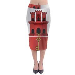 Flag Of Gibraltar Midi Pencil Skirt