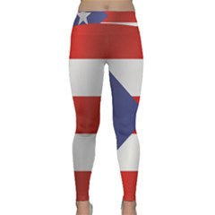Flag Of Puerto Rico Yoga Leggings
