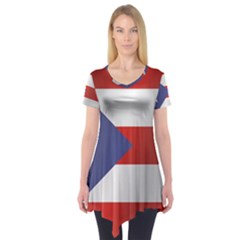 Flag Of Puerto Rico Short Sleeve Tunic