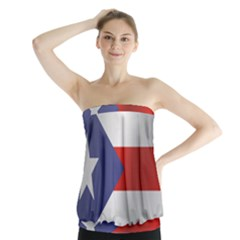 Flag Of Puerto Rico Strapless Top
