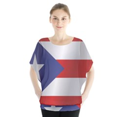 Flag Of Puerto Rico Blouse