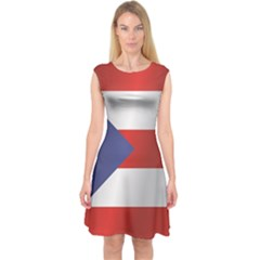 Flag Of Puerto Rico Capsleeve Midi Dress