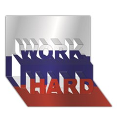 Flag Of Russia WORK HARD 3D Greeting Card (7x5)