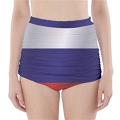 Flag Of Russia High-Waisted Bikini Bottoms