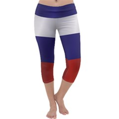 Flag Of Russia Capri Yoga Leggings