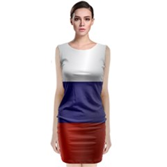 Flag Of Russia Classic Sleeveless Midi Dress