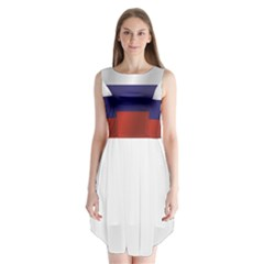 Flag Of Russia Sleeveless Chiffon Dress