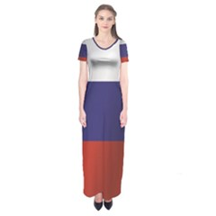 Flag Of Russia Short Sleeve Maxi Dress