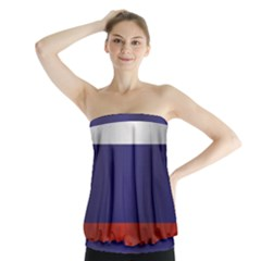 Flag Of Russia Strapless Top