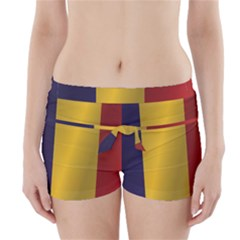Flag Of Romania Boyleg Bikini Wrap Bottoms