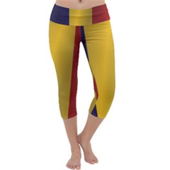 Flag Of Romania Capri Yoga Leggings