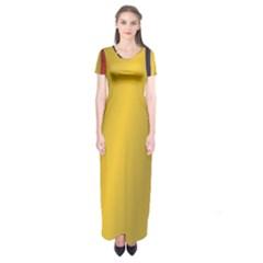 Flag Of Romania Short Sleeve Maxi Dress