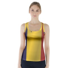 Flag Of Romania Racer Back Sports Top