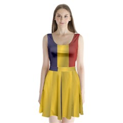 Flag Of Romania Split Back Mini Dress