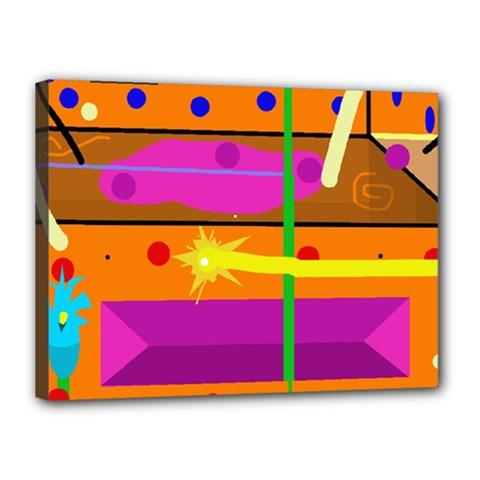 Orange abstraction Canvas 16  x 12