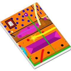 Orange abstraction Large Memo Pads