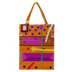 Orange abstraction Classic Tote Bag
