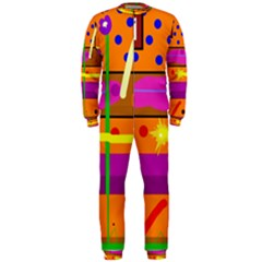 Orange abstraction OnePiece Jumpsuit (Men)