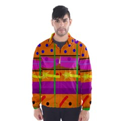 Orange abstraction Wind Breaker (Men)