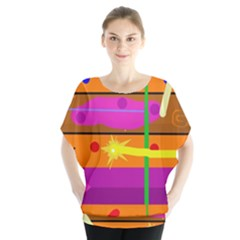 Orange abstraction Blouse