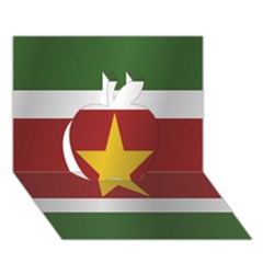 Flag Of Suriname Apple 3D Greeting Card (7x5)