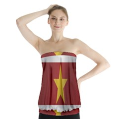 Flag Of Suriname Strapless Top