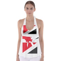 Flag Of Principality Of Sealand Babydoll Tankini Top