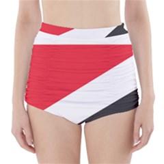 Flag Of Principality Of Sealand High-Waisted Bikini Bottoms