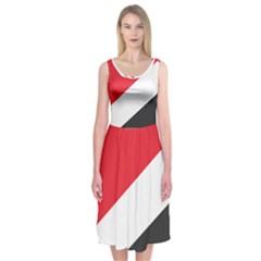 Flag Of Principality Of Sealand Midi Sleeveless Dress