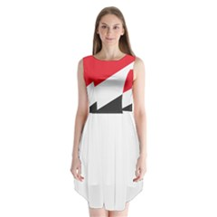 Flag Of Principality Of Sealand Sleeveless Chiffon Dress