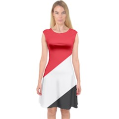 Flag Of Principality Of Sealand Capsleeve Midi Dress
